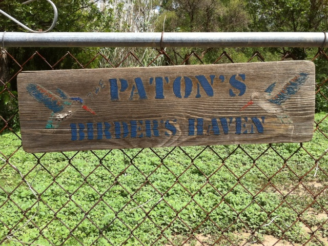 Paton's Birder Haven Original Wooden Sign. Photo taken by the ©Paton Family. All Rights Reserved. Photo may not be used without written permission. Please respect the wishes of the Paton Family